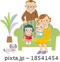 孫とシニア夫婦とペット 18541454