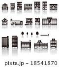 建物アイコン / シルエット 18541870