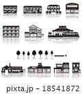 建物アイコン / シルエット 18541872