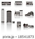建物アイコン / シルエット 18541873