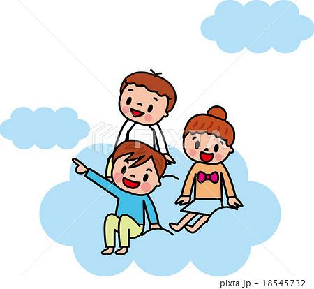 子供 小学生 空 雲 夢 希望 将来 飛ぶ 18545732