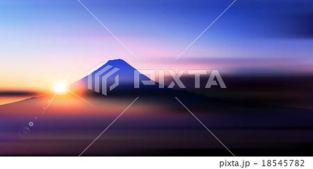 富士山 日の出 風景 背景  18545782
