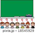 子供 小学生 教室 黒板 勉強 なんだろう ? 18545929