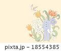 花 夢 女性のイラスト 18554385