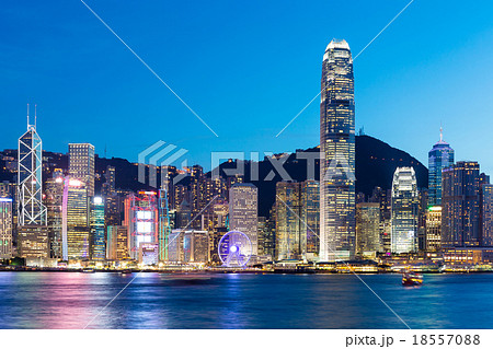 Hong Kong famous night view
