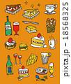 食べ物 セット ベクターのイラスト 18568325