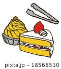 ケーキとトング 18568510