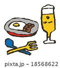 ビールと料理 18568622