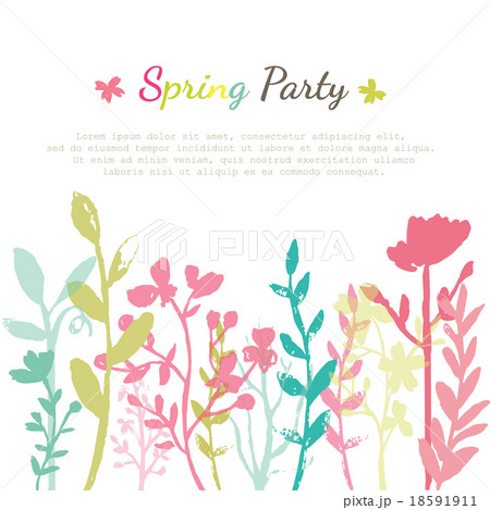 Flower Invitation Cardのイラスト素材 [18591911] - PIXTA