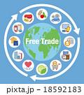 自由貿易イメージと商品やサービスアイコン 18592183