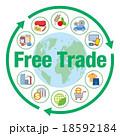 自由貿易イメージと商品やサービスアイコン 18592184