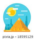 Pyramid of Giza flat design landmark 18595129