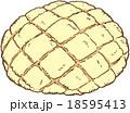 食べ物 メロンパン パンのイラスト 18595413