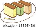 カステラ三種類 18595430