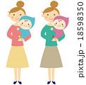 赤ちゃん 笑顔 親子のイラスト 18598350