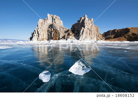 Baikal lake in wintertime, Siberia, Russia