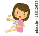 カミソリでムダ毛処理をする女性 18612632