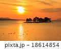 宍道湖 夕日 夕景の写真 18614854
