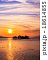 宍道湖 夕日 夕景の写真 18614855
