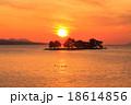 宍道湖 夕日 夕景の写真 18614856
