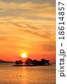 宍道湖 夕日 夕景の写真 18614857