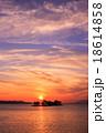 宍道湖 夕日 夕景の写真 18614858