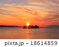 宍道湖 夕日 夕景の写真 18614859