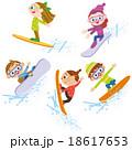スノーボードをしている子供達 18617653