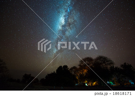 Milky way over campsite, Tanzania
