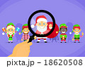 Santa Clause Christmas Elf Magnifying Glass 18620508