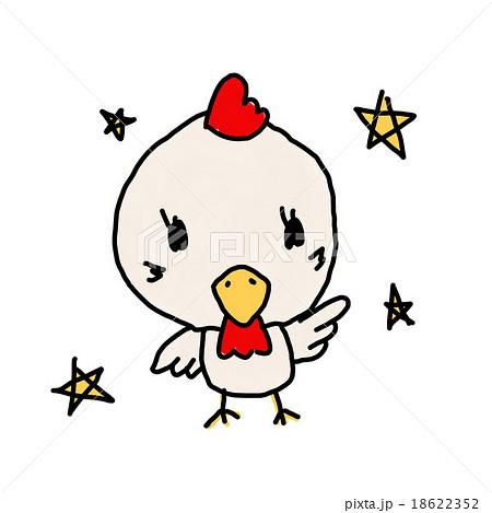 鶏イラスト子供の落書きイメージ 2017年平成29年酉年年賀状イメージ