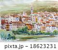 南フランスのスケッチ プロバンスの丘 スケッチ画 18623231