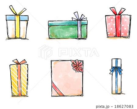 プレゼントボックスのイラスト素材 18627083 Pixta