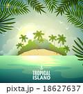 トロピカル 熱帯 島のイラスト 18627637