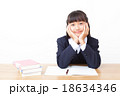 中学生 勉強 女の子の写真 18634346