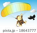 猿のパラグライダー 18643777