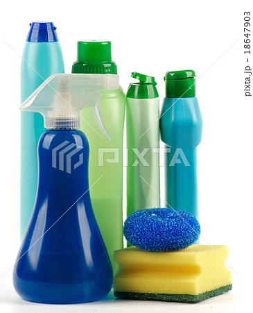 Cleaning Supplies with spray bottleの写真素材 [18647903] - PIXTA