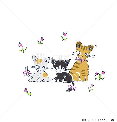 かわいい子猫のイラストのイラスト素材 18651336 Pixta