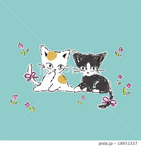 かわいい子猫のイラストのイラスト素材 18651337 Pixta