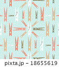 Clothespin retro seamless pattern shape background 18655619