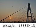 斜張橋 橋 日の出の写真 18656413