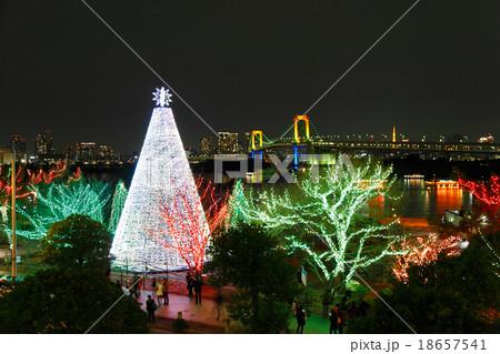お台場 クリスマス イルミネーション レインボーブリッジ 18657541