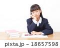 中学生 勉強 女の子の写真 18657598