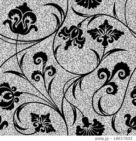floral silver wallpaper 18657602