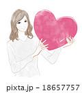 ハート バレンタイン 女性のイラスト 18657757
