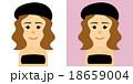 女性 帽子 ベアトップのイラスト 18659004