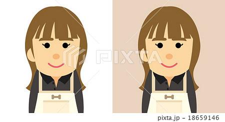 ペットショップで働く女性のイラストのイラスト素材 18659146 Pixta