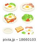 朝食 トースト サラダのイラスト 18660103