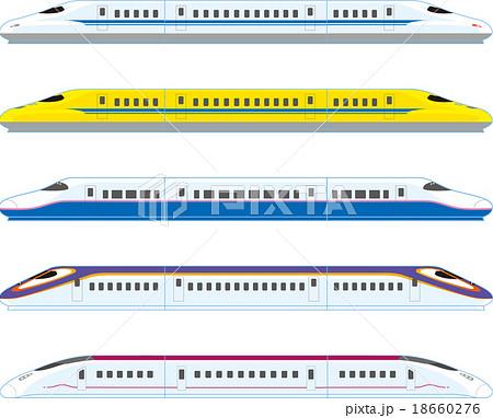 新幹線のイラスト素材 18660276 Pixta