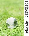 地球イメージ(ガラスの地球儀) 18663803